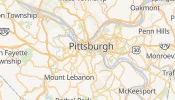 Mappa online di Pittsburgh
