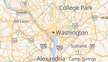 Mappa online di Washington