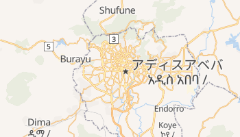 アディスアベバ の地図