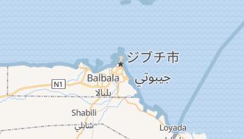 ジブチ の地図