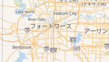 フォートワース の地図