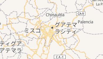 グアテマラ の地図