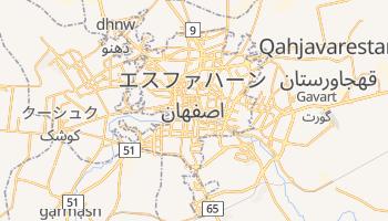 エスファハーン の地図