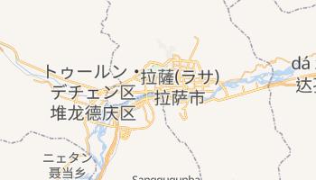 ラサ の地図