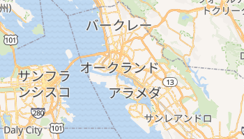 オークランド の地図