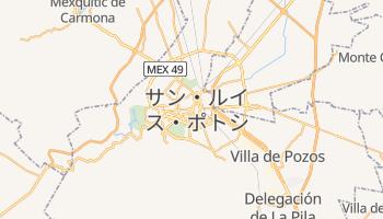 サン・ルイス・ポトシ州 の地図