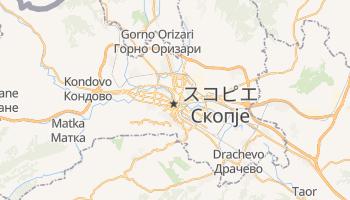 スコピエ の地図