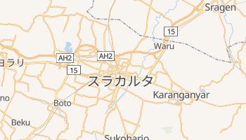 スラカルタ の地図
