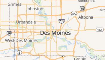 Des Moines online kaart