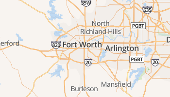 Fort Worth online kaart