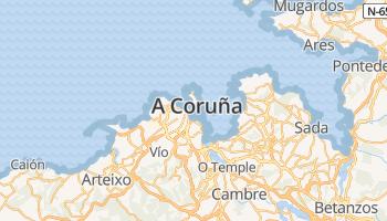 A Coruña online kaart