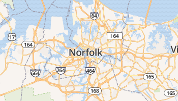 Norfolk online kaart