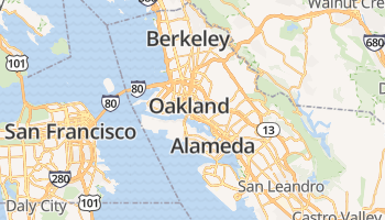 Oakland online kaart