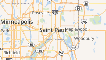 Saint Paul online kaart