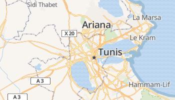 Tunis online kaart