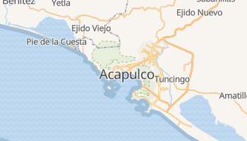 Acapulco - szczegółowa mapa Google