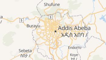 Addis Abeba - szczegółowa mapa Google