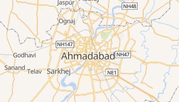 Ahmadabad - szczegółowa mapa Google