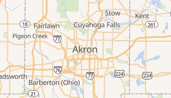 Akron - szczegółowa mapa Google