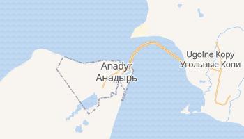 Anadyr - szczegółowa mapa Google