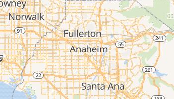 Anaheim - szczegółowa mapa Google