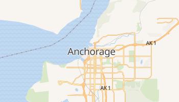 Anchorage - szczegółowa mapa Google
