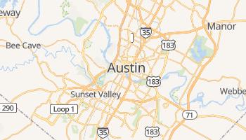 Austin - szczegółowa mapa Google