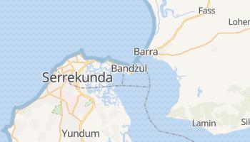 Bandżul - szczegółowa mapa Google