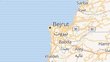 Bejrut - szczegółowa mapa Google