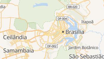 Brasília - szczegółowa mapa Google