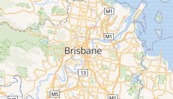 Brisbane - szczegółowa mapa Google