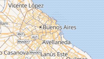 Buenos Aires - szczegółowa mapa Google