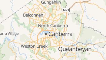 Canberra - szczegółowa mapa Google