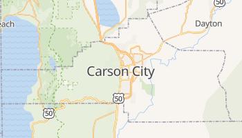 Carson City - szczegółowa mapa Google
