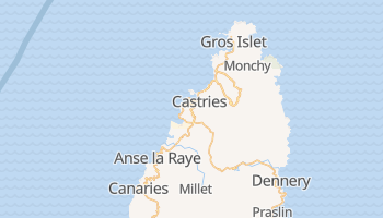 Castries - szczegółowa mapa Google