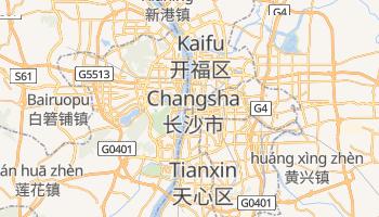 Changsha - szczegółowa mapa Google