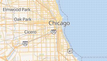 Chicago - szczegółowa mapa Google