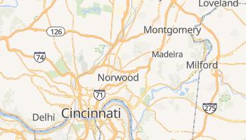 Cincinnati - szczegółowa mapa Google