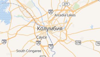 Columbia - szczegółowa mapa Google