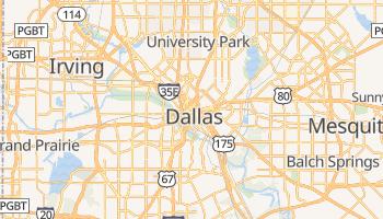 Dallas - szczegółowa mapa Google