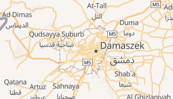Damaszek - szczegółowa mapa Google
