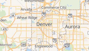Denver - szczegółowa mapa Google