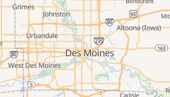 Des Moines - szczegółowa mapa Google