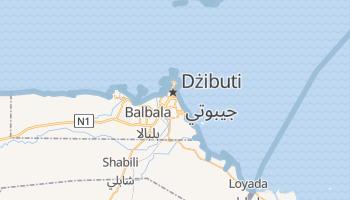 Dżibuti - szczegółowa mapa Google
