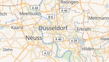 Düsseldorf - szczegółowa mapa Google