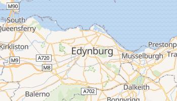 Edynburg - szczegółowa mapa Google