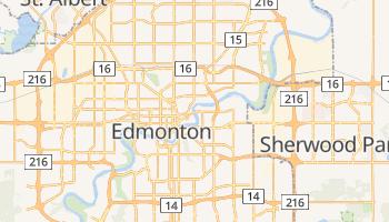 Edmonton - szczegółowa mapa Google