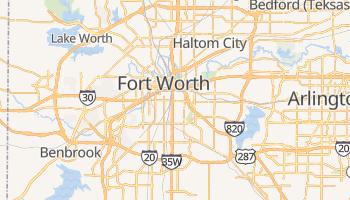 Fort Worth - szczegółowa mapa Google