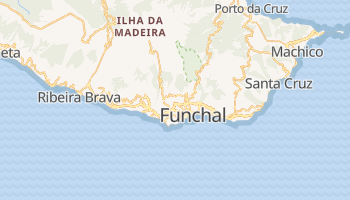Funchal - szczegółowa mapa Google