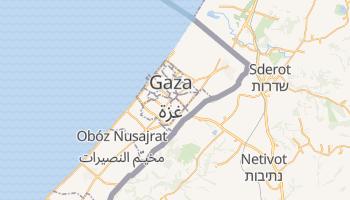 Gaza - szczegółowa mapa Google